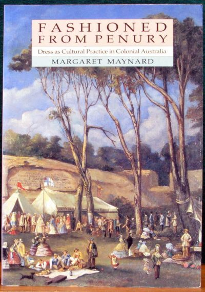 Book cover with image of open field with tents and several people with different types of dresses around the site