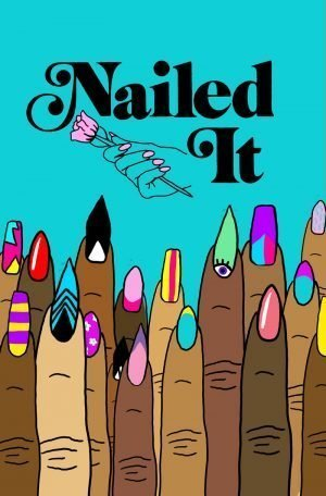 Film poster with title and fingers with nails painted in various colors