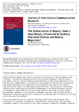 Cover page with bibliographic information for the article