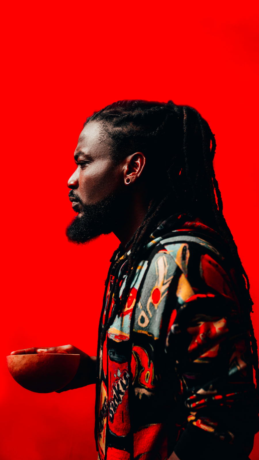 """Portrait of african dancehall music artist - Samini."""