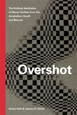 Book cover with title and a background with a checked pattern
