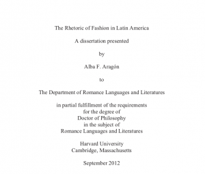 Cover page of dissertation with title, author and academic information
