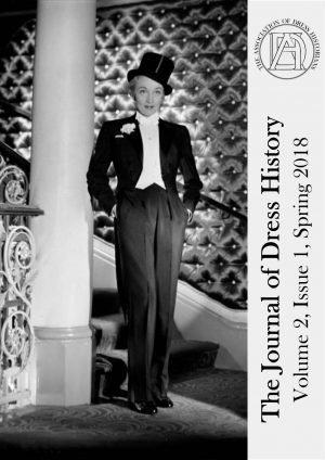 Journal cover with image of Marlene Dietrich wearing a tuxedo