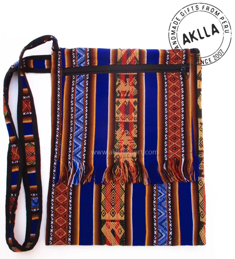 Photo of bag with stripes and geometric patterns