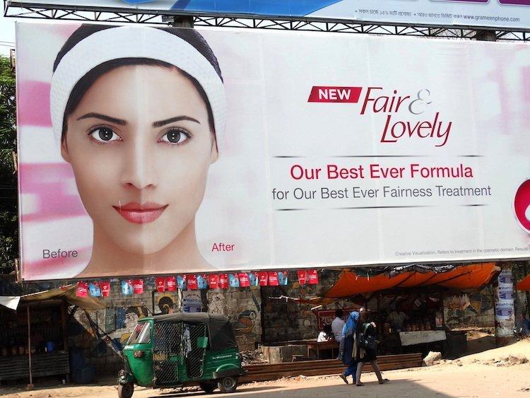 Fair and Lovely - Billboard for Skin-Whitening Cream - Chittagong - Bangladesh