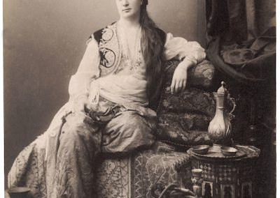 Sébah & Joaillier. [Fair Woman Sitting with Turkish Coffee Service and Nargile], No. 245, 1884-1920, 1884.The Getty Research Institute, Los Angeles (96.R.14 (F3.012)). Digital image courtesy of the Getty's Open Content Program