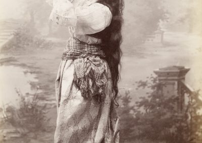 Sébah & Joaillier. [Woman Posed with Tambourine], 1884-1920, 1884. The Getty Research Institute, Los Angeles (96.R.14 (F3.004)). Digital image courtesy of the Getty's Open Content Program