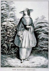 Currier, N. (firm), The bloomer costume, 1851, lithograph, Library of Congress
