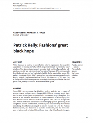 First page of article with title, author information, abstract, and text