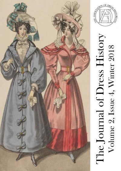Journal cover with image of fashion plate with two women in nineteenth-century-style dress