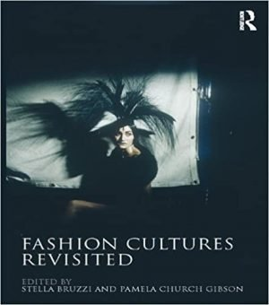 Book cover with image of woman with a black dress and headwear sitting in front of a white screen
