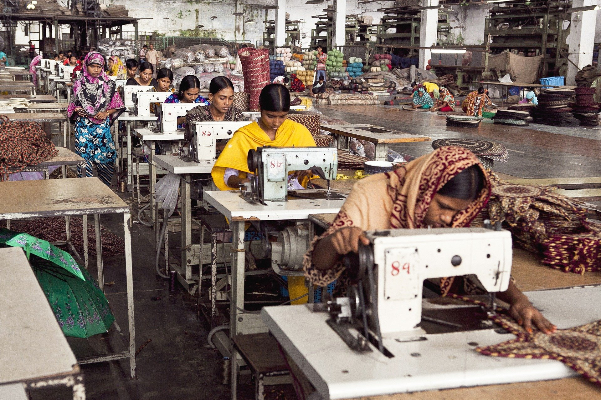 Women garment workers in a factory