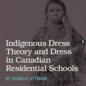 Title and author of article with an image of an Indigenous girl in the background