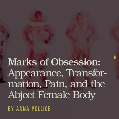 Title of article with images of people inside plastic bags in the background
