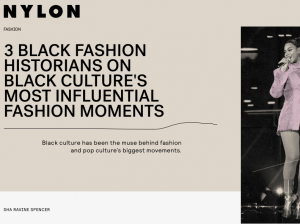 Title page of article with image of Beyoncé