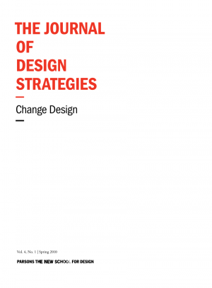 """Journal cover with the inscription """"The Journal of Design Strategies: Change Design"""""""