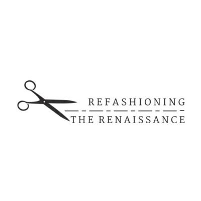 Logo of Refashioning the Renaissance with scissors and a dotted line