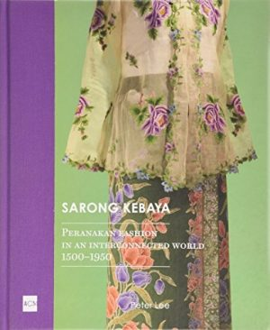 Book cover with image of a sarong kebaya on a mannequin