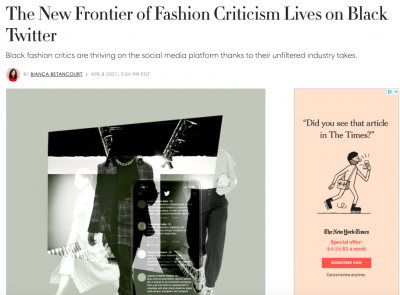 Title image of article with collage of three dressed people walking with phone layered over them