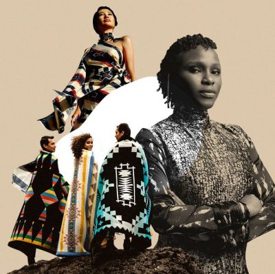 Collage of photos of Indigenous women