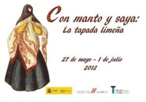 Poster for exhibition with image of a veiled woman from Lima