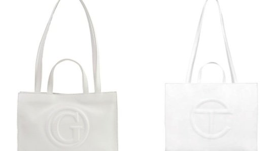 Side by side image of the Telfar Tote and the Guess comparison.