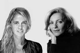 Black and white photo of two women (the interviewees)