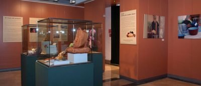 Gallery view with textiles